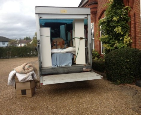 Van on House Clearance in Alton